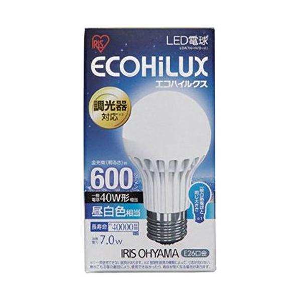 アイリスオーヤマ LED電球 調光器対応 口金直径26mm 40W形相当 昼白色 下方向タイプ 密閉形器具対応 エコハイルクス LDA7NH|vivaldistr