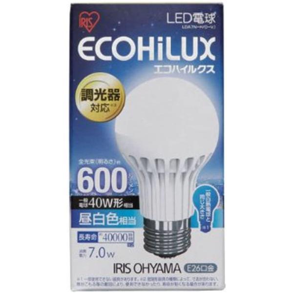 アイリスオーヤマ LED電球 調光器対応 口金直径26mm 40W形相当 昼白色 下方向タイプ 密閉形器具対応 エコハイルクス LDA7NH|vivaldistr|02