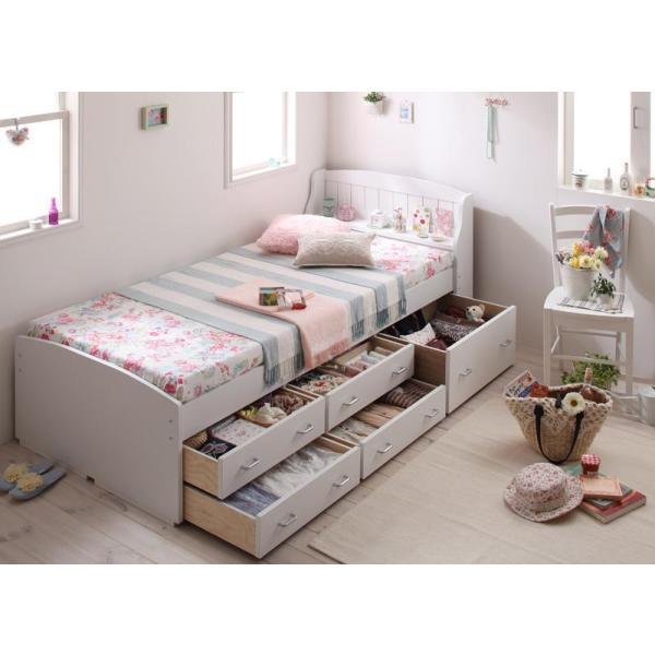 ベッド 引き出し付き 収納ベッド シングルベッド Amelie アメリ フレームのみ|vivamaria|02