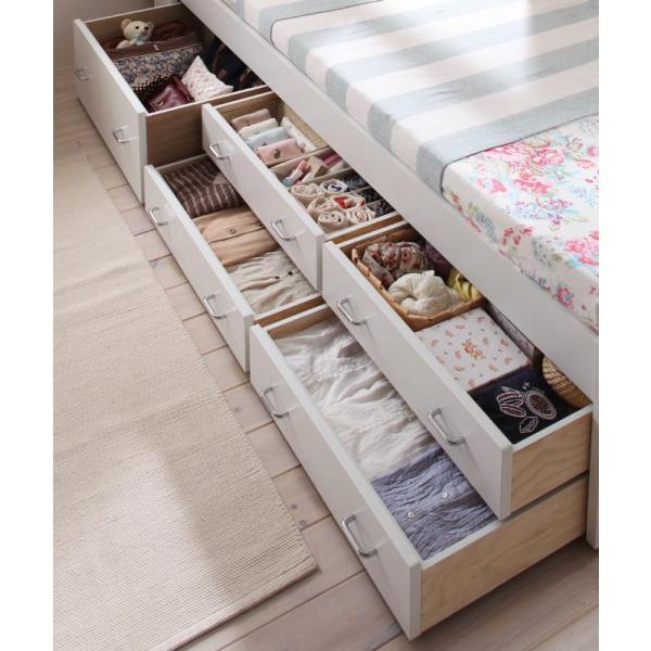 ベッド 引き出し付き 収納ベッド シングルベッド Amelie アメリ フレームのみ|vivamaria|04