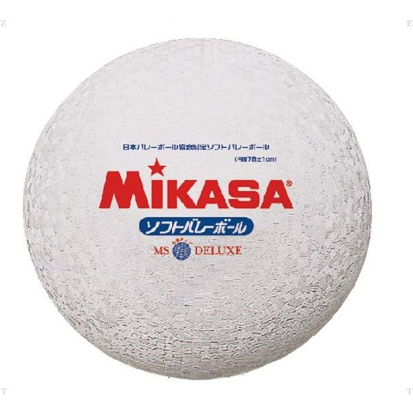 ソフトバレーボール糸巻タイプ ホワイト  MIKASA ミカサ バレー 11FW mikasa(MS78DXW)