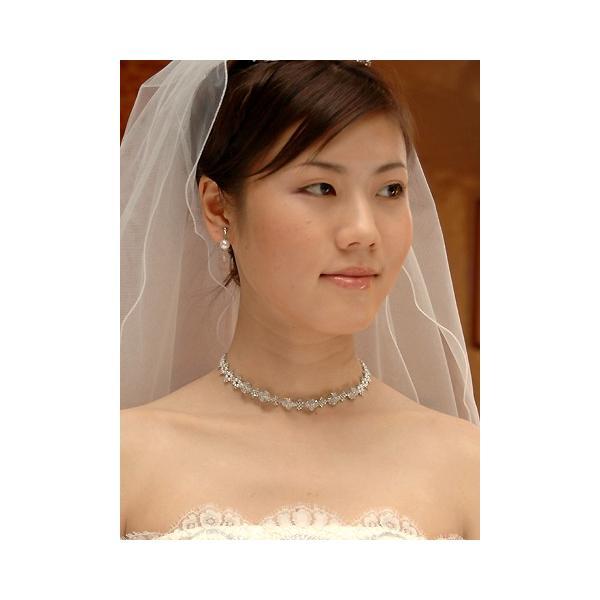 ネックレス イヤリング ピアスセット ウェディング ウエディング ブライダル 結婚式 ウェディングアクセサリー A07