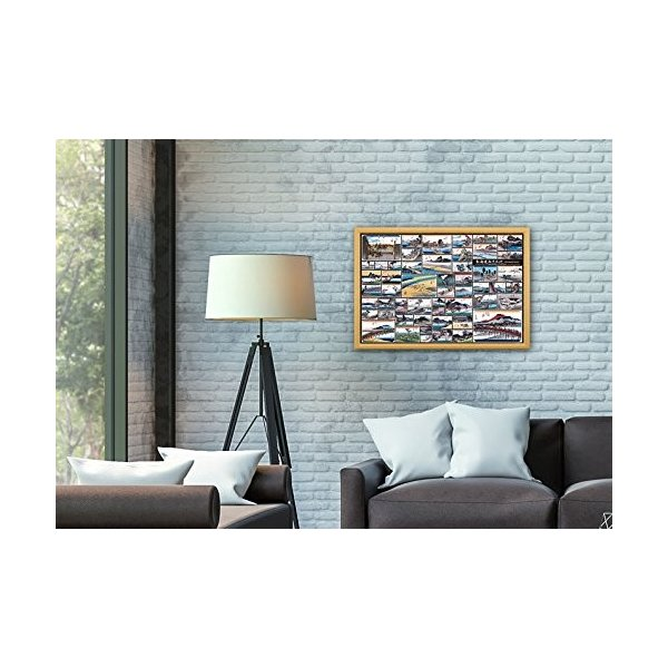 1000ピース ジグソーパズル 歌川広重 東海道五十三次コレクション(49×72cm)|vivian4988