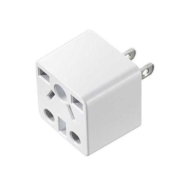 サンワサプライ 日本専用マルチタイプ電源変換アダプタ ホワイト TR-AD5W|vivian4988