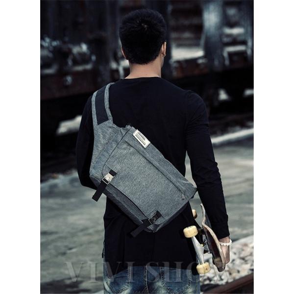 メッセンジャーバッグ メンズ ショルダーバッグ レディース ボディバッグ 斜めがけバッグ 鞄 自転車 通勤 通学 軽量 大容量 アウトドア 送料無料