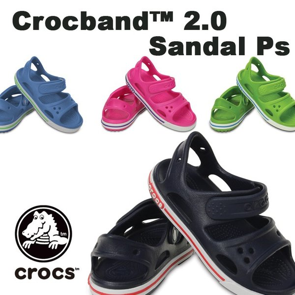 84009ad3d3e300 クロックス CROCS クロックバンド2.0サンダルPS 子供用 キッズ 海 ...