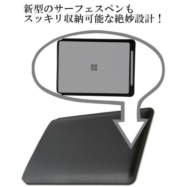 Surface Go スリーブ ケース レザー 青 高品質高性能 軽 薄 皮 革 全7色 10 インチ スリップイン タブレットパソコン カバー サーフェス ゴー ネイビーブルー|vm-case|10
