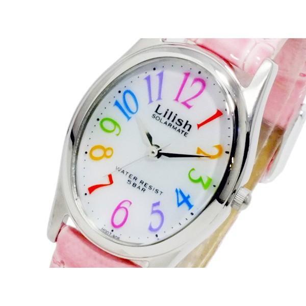シチズン 腕時計 レディース リリッシュ CITIZEN レザー ソーラー ホワイト/ピンク
