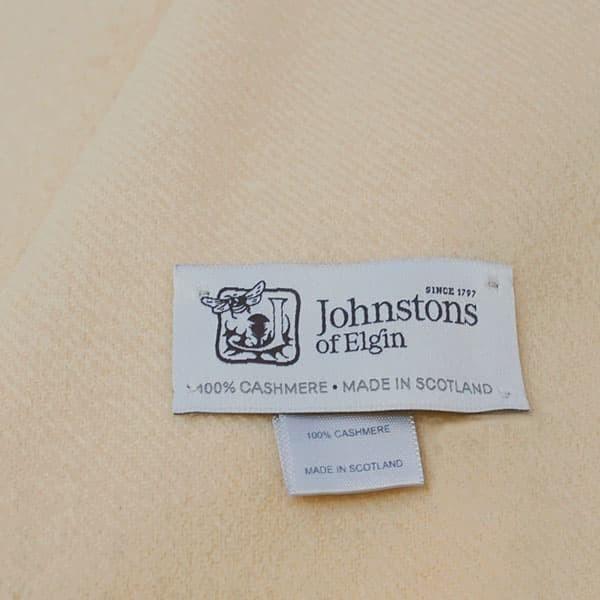 ジョンストンズ ストール ショール レディース&メンズ Johnstons 大判 無地 カシミア