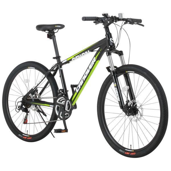 マウンテンバイク 自転車 26インチ MTB ディスクブレーキ フロントサスペンション シマノ21段変速 CANOVER カノーバー CAMT-042-DD ORION voldy 04
