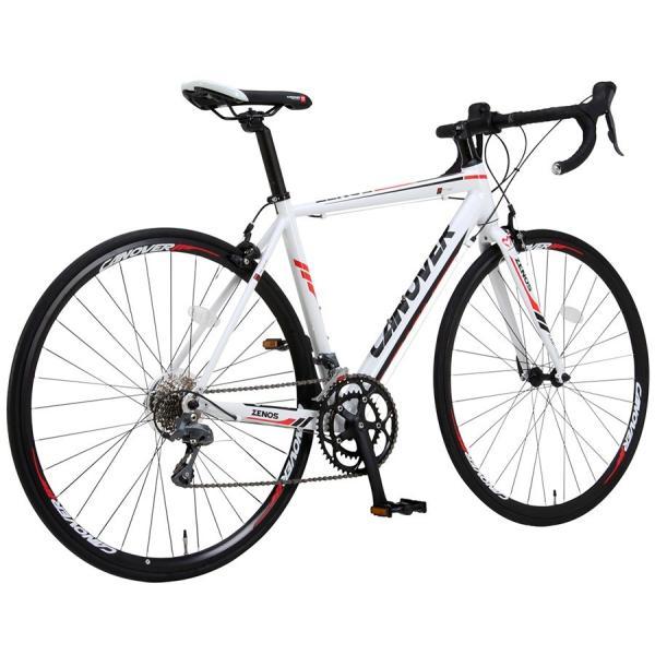 ロードバイク 自転車 700c シマノ16段変速 超軽量 アルミフレーム デュアルコントロールレバー 送料無料 CANOVER カノーバー CAR-011 ZENOS|voldy|16