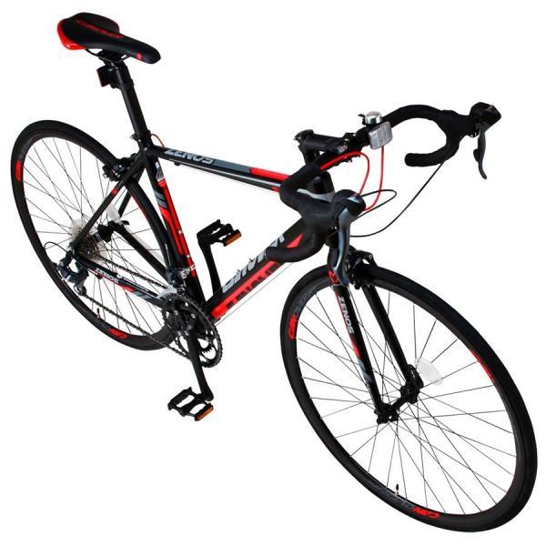 ロードバイク 自転車 700c シマノ16段変速 超軽量 アルミフレーム デュアルコントロールレバー 送料無料 CANOVER カノーバー CAR-011 ZENOS|voldy|18