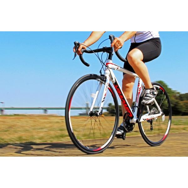 ロードバイク 自転車 700c シマノ16段変速 超軽量 アルミフレーム デュアルコントロールレバー 送料無料 CANOVER カノーバー CAR-011 ZENOS|voldy|05