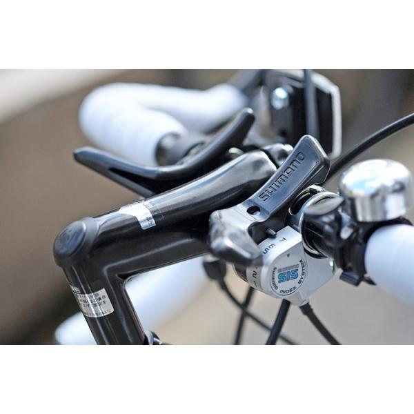 ロードバイク ロードレーサー 自転車 本体 初心者 700c(約27インチ) シマノ21段変速 ドロップハンドル 2wayシステムブレーキ Grandir Sensitive|voldy|11