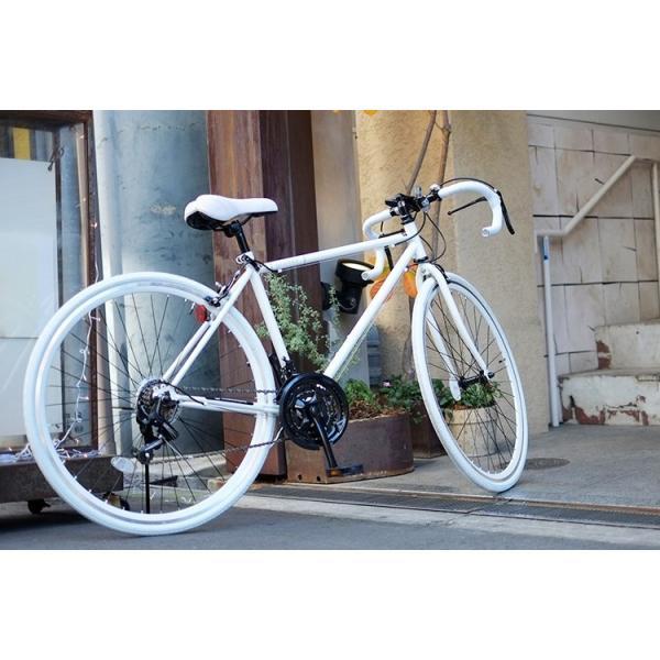 ロードバイク ロードレーサー 自転車 本体 初心者 700c(約27インチ) シマノ21段変速 ドロップハンドル 2wayシステムブレーキ Grandir Sensitive|voldy|09