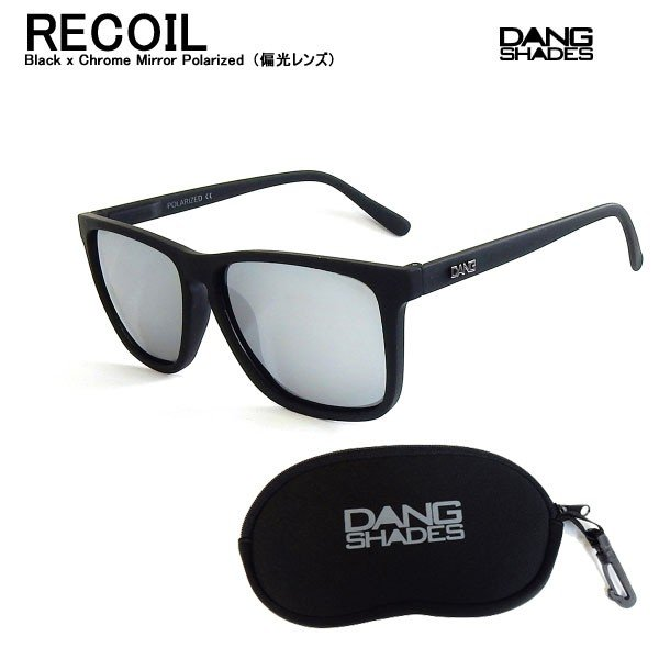 DANG SHADES ダンシェイディーズ RECOIL Black x Chrome Mirror Polarized(偏光レンズ)サングラス ダン・シェイディーズ vidg00400|voltage
