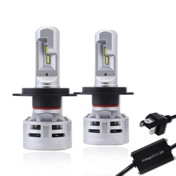 送料無料 H4 Hi/Lo 一体型LEDヘッドライト車検対応 60w(30wx2) 10000lm(5000lmx2) 6500K DC1224V 内臓ファン TX CSPチップ搭載 360°発光 1年保証 DDM|vourvoir2|11