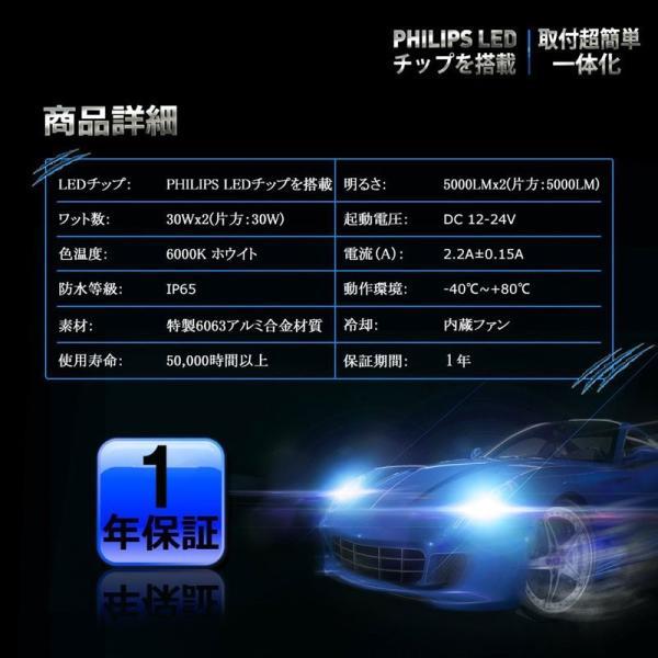 送料無料 H4 Hi/Lo 一体型LEDヘッドライト車検対応 60w(30wx2) 10000lm(5000lmx2) 6500K DC1224V 内臓ファン TX CSPチップ搭載 360°発光 1年保証 DDM|vourvoir2|09