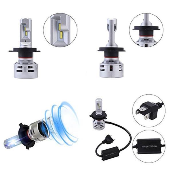 送料無料 H4 Hi/Lo 一体型LEDヘッドライト車検対応 60w(30wx2) 10000lm(5000lmx2) 6500K DC1224V 内臓ファン TX CSPチップ搭載 360°発光 1年保証 DDM|vourvoir2|10