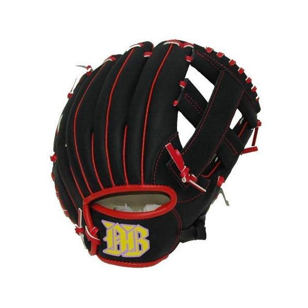 グローブ軟式野球子供用ブラックレッドオールラウンド9インチ野球用品軟式グラブ少年野球外野手内野手少年野球小学生内野手ベースボール