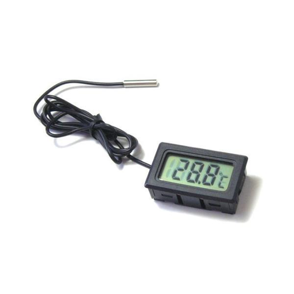 デジタル温度計(外部センサー式) ブラック 送料216円・ポスト投函 (商品番号2116-0602)|vshopu-2|03
