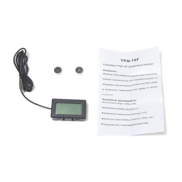 デジタル温度計(外部センサー式) ブラック 送料216円・ポスト投函 (商品番号2116-0602)|vshopu-2|06