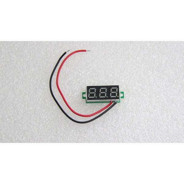デジタル電圧計モジュール DC3.5-30V 【ミニ・赤】セール特価 送料216円・ポスト投函 (商品番号2145-1501)|vshopu-2|05