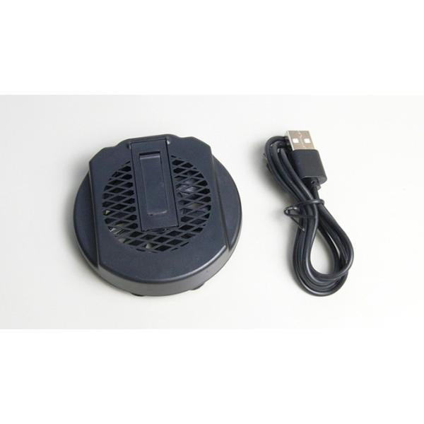 USBモバイル冷却ファン 丸型ブラック 送料216円・ポスト投函 (商品番号2196-1501)|vshopu-2|02