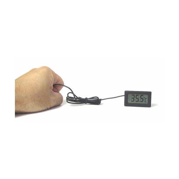 デジタル温度計(外部センサー式) ブラック  小型温度計 電子工作|vshopu|03