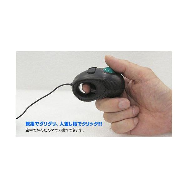 マウス 光学式トラックボールマウス GM-OPTB02B ブラック|vshopu|05