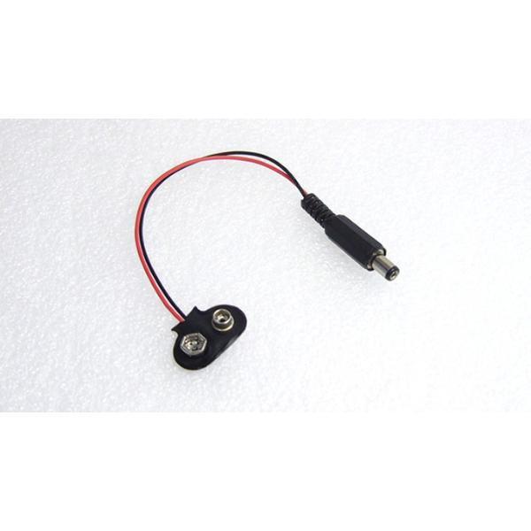 5.5/2.1mmDCプラグ←電池スナップ(006P電池用)変換ケーブル