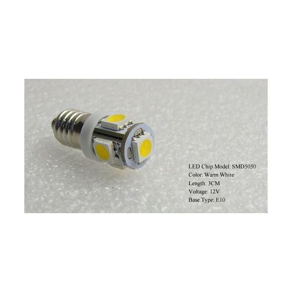 LED豆電球 12V 電球色 5LED 口金サイズE10 LEDライト|vshopu|06