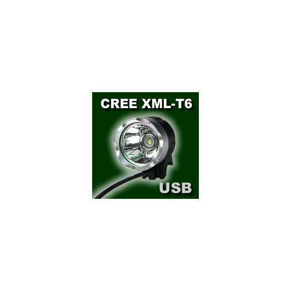 USBサイクルライト CREE XM-L T6 3-Mode LEDライト|vshopu