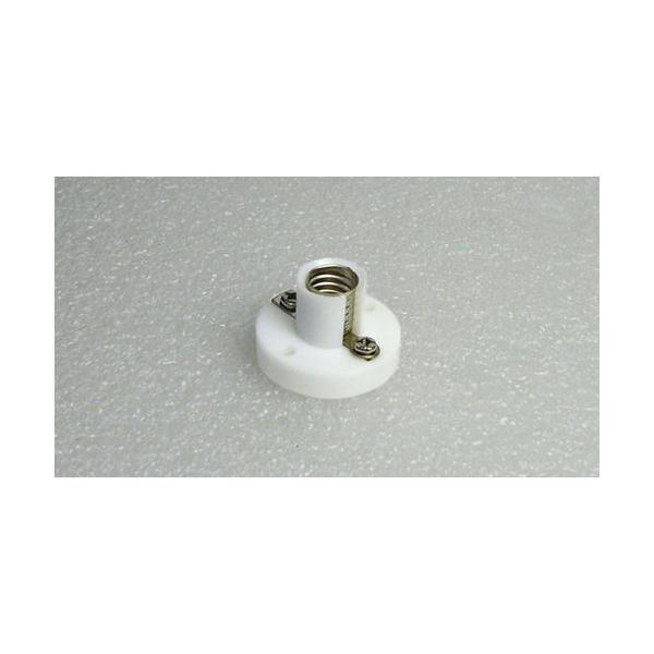 豆電球ソケット【丸型ベース付き】 口金E10用 白 電子工作 vshopu 04