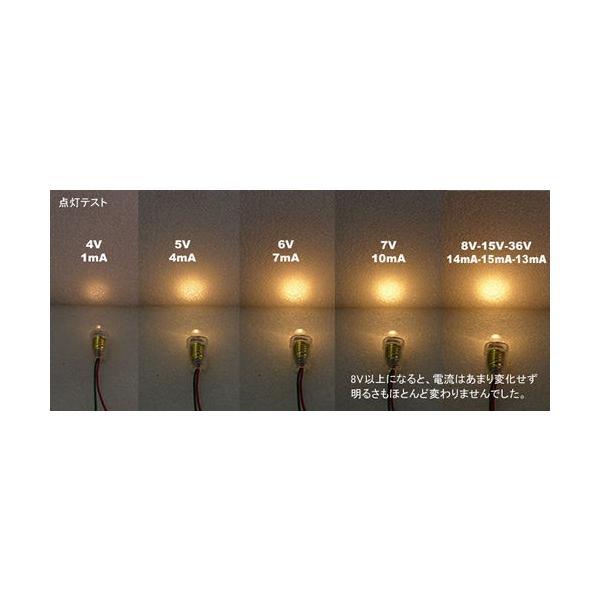 LED豆電球 AC/DC 5V〜36V 電球色 口金サイズE10|vshopu|03