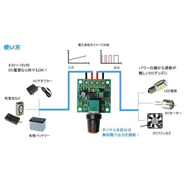低電圧 超小型 PWMコントローラ DC1.8V-15V 2A 電子工作|vshopu|06
