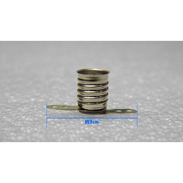 豆電球ソケット 口金E10用 2個入り 電子工作|vshopu|06