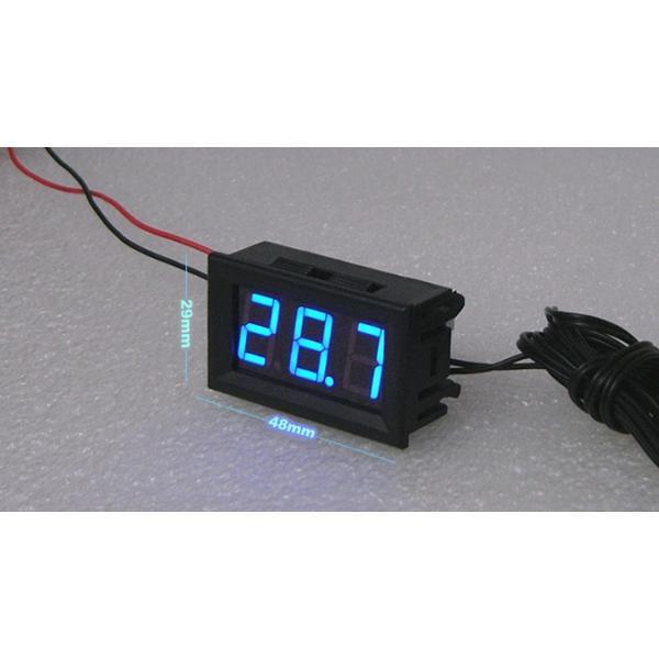 デジタルLED温度計 青色 電子工作|vshopu|03