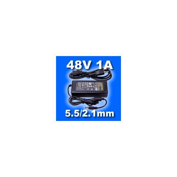 ACアダプター 48V 1A (プラグ:5.5/2.1mm)|vshopu