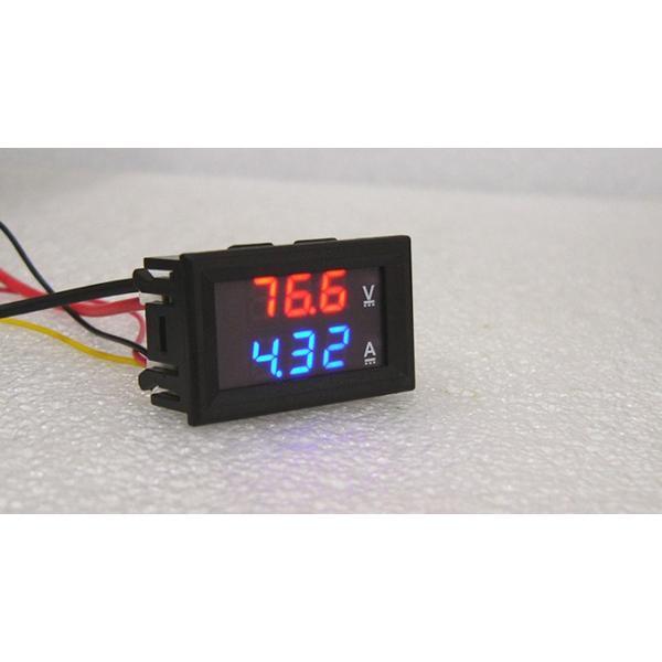 デジタル電圧計&電流計 DC100V 10A (赤V&青A) 特価バルク品|vshopu|02