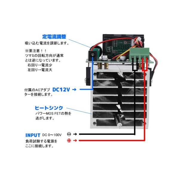 デジタル電子負荷モジュール DC100V 10A (最大100W) ACアダプター付き vshopu 05