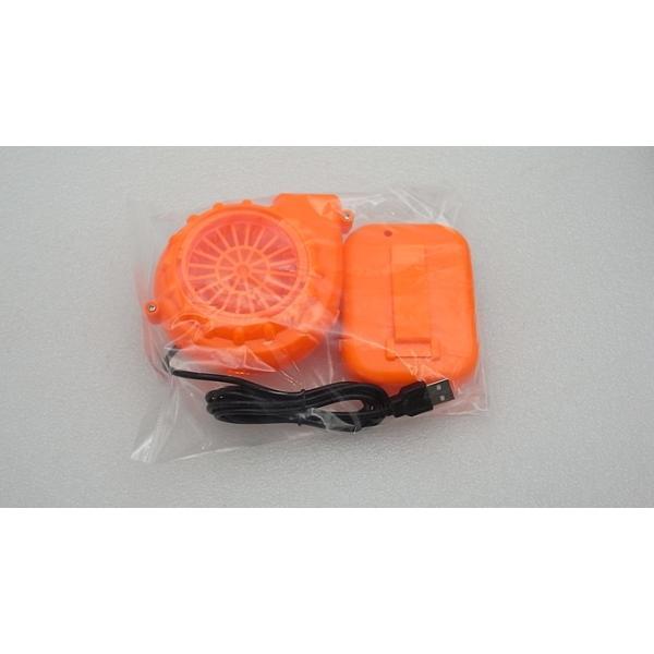 着ぐるみ用 強力ファン 電池ボックス付き オレンジ vshopu 08