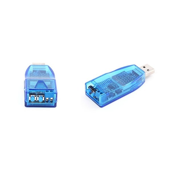 USB-DCブースター 1V-24V 電圧計電流計付き UP/DOWNボタン式 ブルースケルトン|vshopu|03