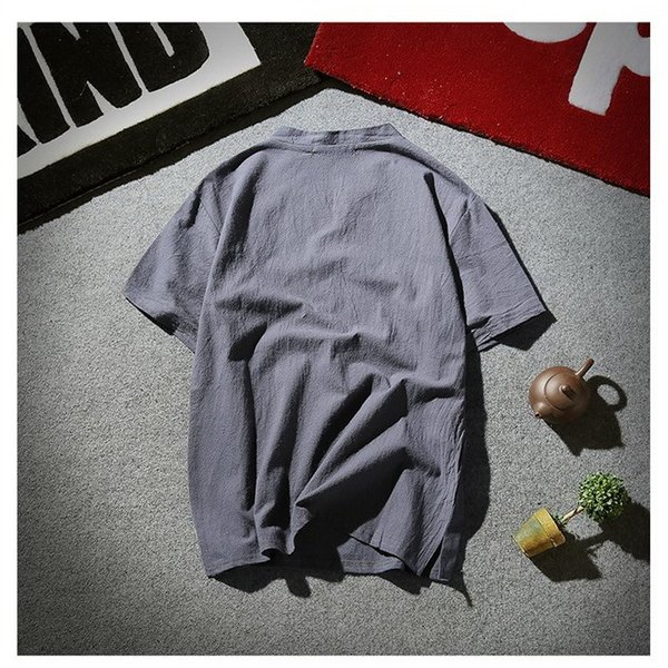 tシャツ メンズ 半袖 夏 vネック トップス 吸汗速乾 無地 ファッション 大きいサイズ 麻繊維 おしゃれ 運動会 文化祭 vsmile 03