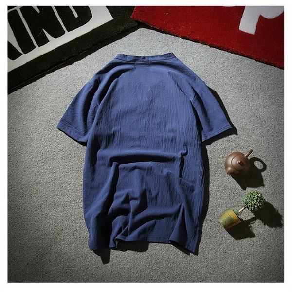 tシャツ メンズ 半袖 夏 vネック トップス 吸汗速乾 無地 ファッション 大きいサイズ 麻繊維 おしゃれ 運動会 文化祭 vsmile 05