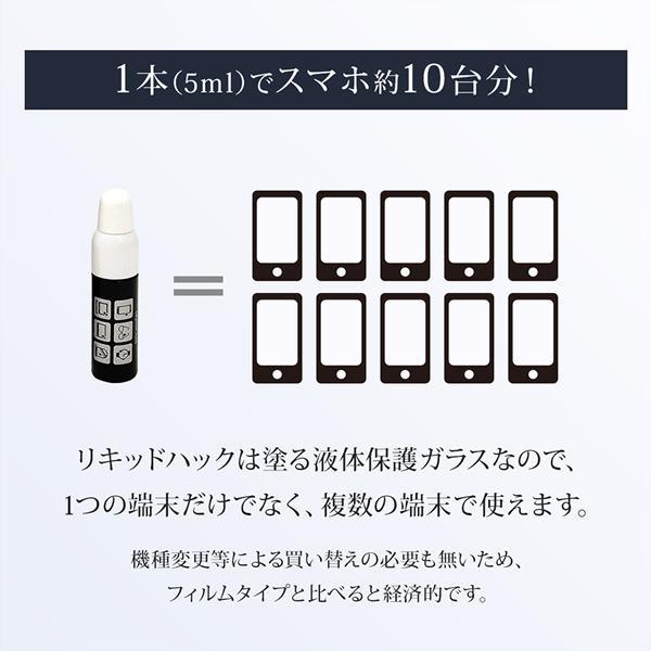 リキッドハック LIQUID_hack 5ml 塗る ガラスコーティング剤 日本製 硬度10H 強力 液晶画面 ガラスフィルム 液体ガラスフィルム 液体保護フィルム|vt-web|11