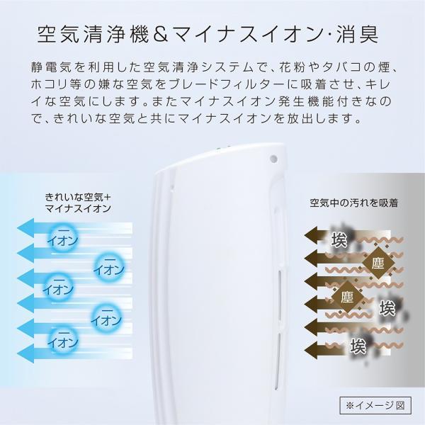 USBイオン空気清浄機 コンパクト 卓上 小型 ペット フィルター交換不要 花粉 タバコ 消臭 新生活 一人暮らし インフルエンザ 風邪対策 マクロス MEH-90|vt-web|06