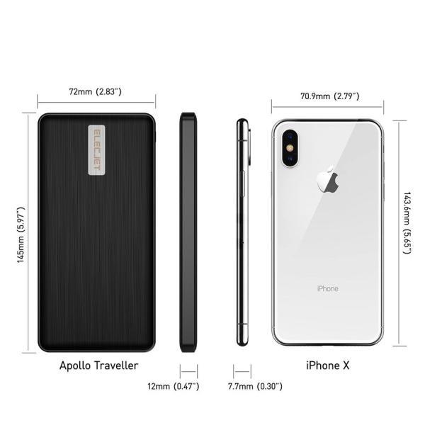 スマホ 急速充電器 Apollo Traveller モバイルバッテリー 5000mAh 急速充電 超速 軽量 iphone android 18分で充電できる コンパクト|vt-web|04