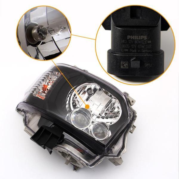ハイエース200系 4型 標準&ワイド ハロゲン車用 LED ヘッドライト DX/SGL 対応 H4タイプ インナーブラック ヘッドランプ レべライザー機能付 外装 パーツ|vulcans|05