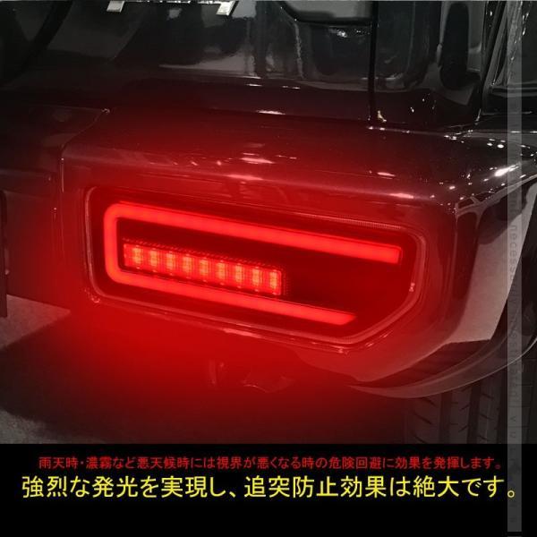 新型ジムニーJB64W/JB74W シーケンシャルウインカー内蔵 LEDテールランプ 流れるウインカー オープンランニング バック テール ブレーキランプ パーツ|vulcans|05